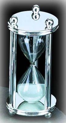 (Bey-Berk D522 Silver Plated 5 Minute Sand Timer. Grey)