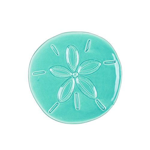 Cape Coral Collection, Sand Dollar Snack Plate, Teal ()