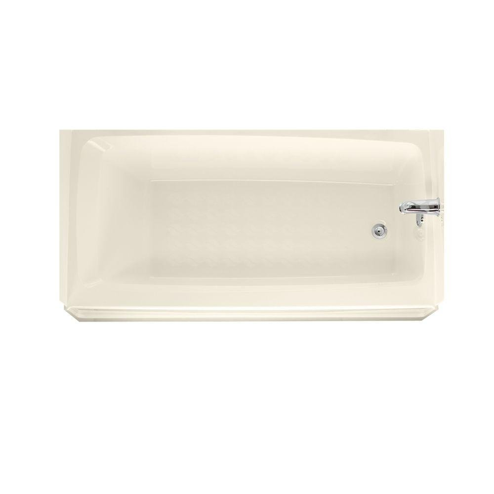 Swanstone BT-3060R-037 Veritek 60-Inch Tub With Apron and Right Hand Drain, Bone Finish by Swanstone