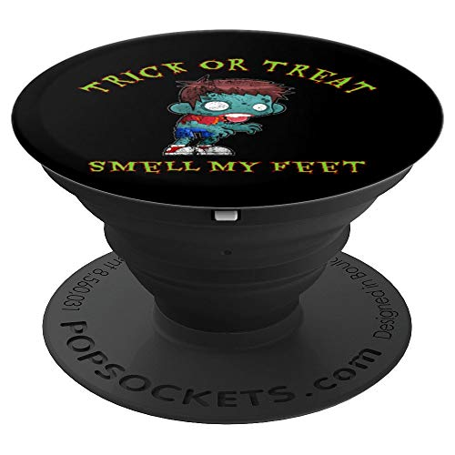 Boy Zombie Halloween Trick Or Treat Smell My Feet - PopSockets Grip and Stand for Phones and Tablets ()