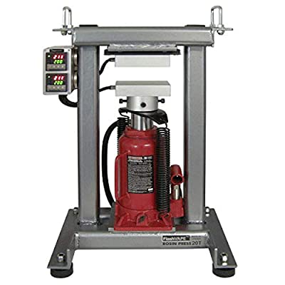 """FVR TALLBOY Portable Table Top Heat Press Frame with 3""""x5"""" Plates: Use Air Assist 20T Jack"""