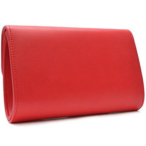 Vain Secrets Damen Umhänge Tasche Clutch Abendtasche in vielen Farben Rot