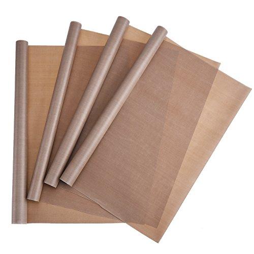 Blulu 4 pieces ptfe sheet non stick craft mat heat press for Non stick craft sheet large