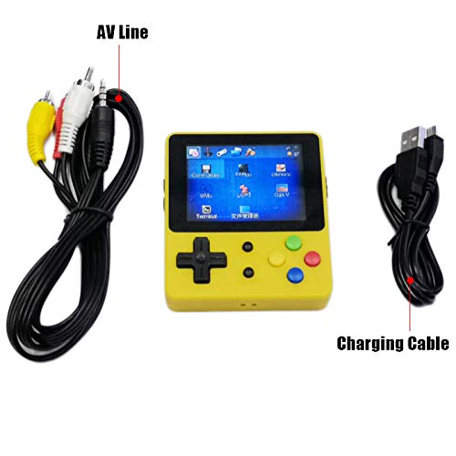 DSstyles LDK 2.6inch Screen Mini Handheld Game Console Nostalgic Children Retro Game Mini Family TV Video Consoles Yellow by DSstyles (Image #4)