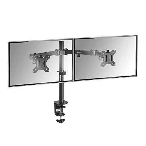 """VonHaus Dual Monitor Mount for 13-32"""" Screens   Double Arm Desk Stand..."""
