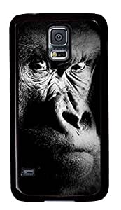 Diy Fashion Case for Samsung Galaxy S5,Black Plastic Case Shell for Samsung Galaxy S5 i9600 with Gorilla