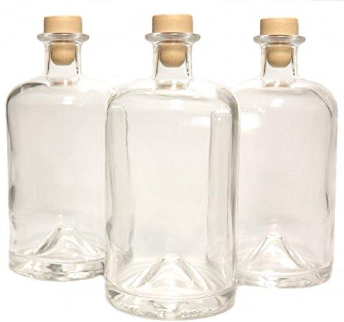 10 Apothekerflasche 1L Glasflaschen leer Essigflaschen Ölflaschen Likörflaschen Geniess-Bar