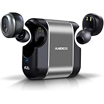d415509a52c ANBES Wireless Earbuds [Upgraded] Bluetooth 5.0 3D Stereo Deep Bass Sound  Headphones 15H Playtime Noise Cancelling in-Ear Headset with Built-in  Microphone ...
