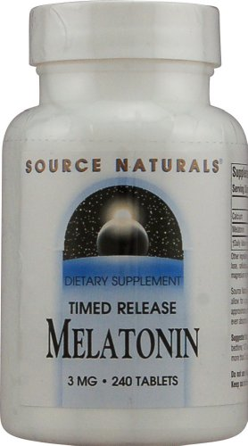 Source Naturals Melatonin 3mg, Time Release, for Occasional Sleeplessness, 240 Tablets