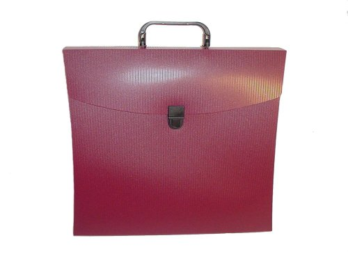 Aurora Products File (Aurora GB File N Go Portable File Folder with Handle/Latch and 6 Dividers, Burgundy, 13 5/8 in. L x 3 in. W x 12 1/8 in. H (AUA10113))