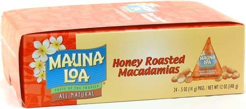 Mauna Loa Honey Roasted Macadamia Nuts, 0.5-Ounce Triangle Pack (Pack Of 24)