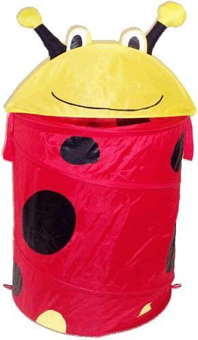 - Lady Bug Laundry Hamper Round