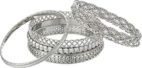 (GUESS 7 Piece Textured Bangle Bracelet )