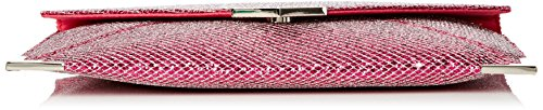 SwankySwans - Korie Glitter Envelope Party Prom Clutch Bag, Sacchetto Donna Pink (Fuschia)
