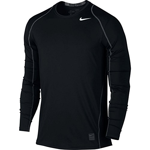 Nike Mens Pro Cool Long Sleeve Training Shirt Black/Anthracite/White 703100-010 Size Small