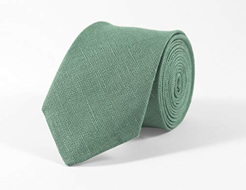 Neckties Sage - Sage green linen wedding necktie for groomsmen gift/sage green bow ties for men and toddler boys/sage green rustic wedding ideas/boho wedding/gift for men and husband