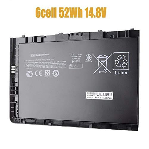 BT04XL Laptop Battery Compatible with HP EliteBook Folio 9470 9470M Series HSTNN-IB3Z HSTNN-I10C BT04 BA06 687517-1C1[6-Cell 52Wh 14.8V Black]-18 Months Warranty