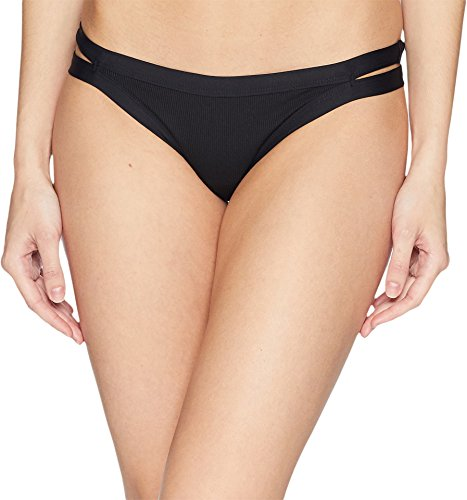 - LSpace Women's Charlie Ribbed Tab Side Hipster Bikini Bottom Black XS