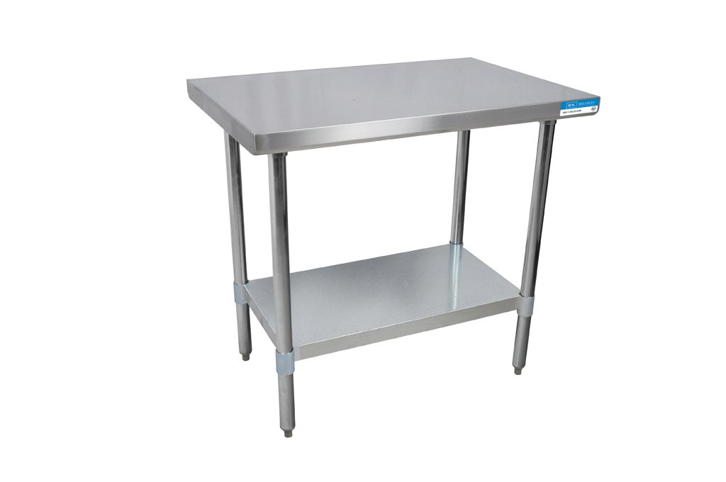 BK Resources Stainless Steel Flat Top Work Table 24' x 18' VTT-1824