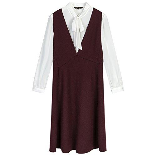 ZHUDJ E En Para Corta Falda Vestidos Piezas Una Vestir Dos Falda Mostrar Invierno Delgada Otoño M De Y rX0rBR