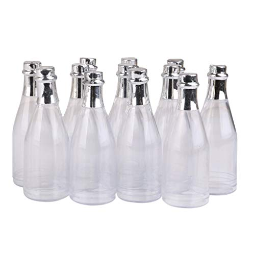 Polymer True Utility Baby Shower Party Favours Decoration Plastic Champagne Candy Bottles Pack of 12 -