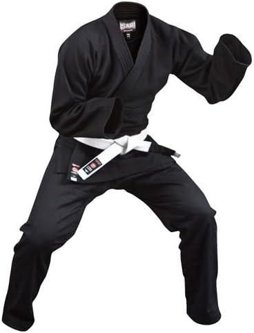 ISAMI(イサミ) 軽量柔術衣 JJ-15 A2(5号) 黒 ヒゴワンタオル付き