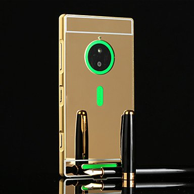 Cases & Covers, Luxury Ultra Slim Bling Metal Aluminum Alloy Frame Mirror Acrylic Plastic Back Cover Case For Nokia Lumia 830 ( Color : Gold (Lumia 830 Gold Case)