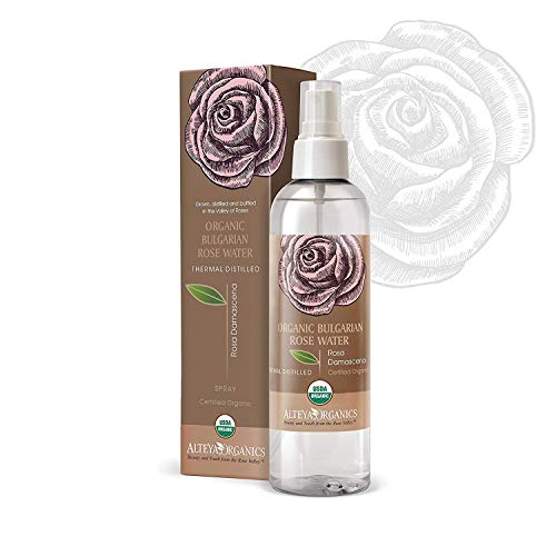 Alteya Organics Bulgarian Rose Water Toner - USDA Organic, Award-Winning, Organic Toner Mist, 8.5 oz/250ml