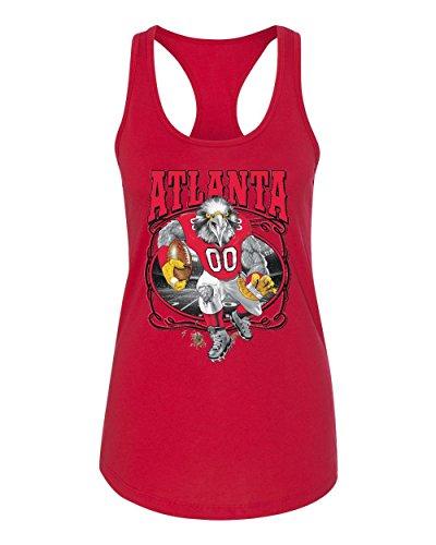 Football Falcons Jersey Red Atlanta - Wild Bobby Atlanta Fan | ATL Fantasy Football | Womens Sports Jersey Racerback Tank Top, Red, Medium