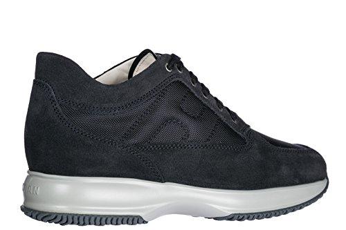 Hogan Scarpe Sneakers Uomo camoscio Nuove Interactive Blu