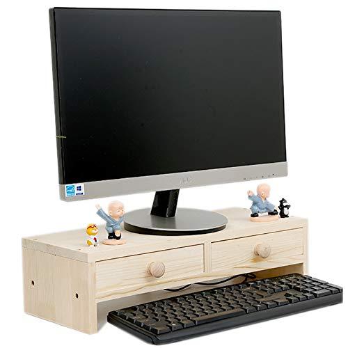 GX&XD Universal Madera Soportes de Monitor con cajón Escritorio ...