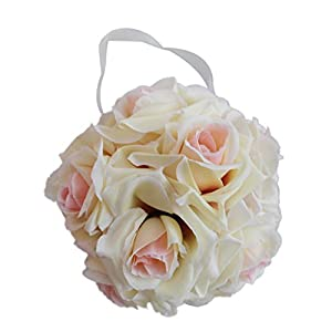 Jili Online Romantic Kissing Ball Flower Rose Bouquet Wedding Party Hanging Decoration 23