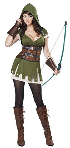 California Costumes Women's Lady Robin Hood, Olive/Brown, (Best Anime Costumes)