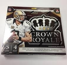 (2014 Panini Crown Royale Football Hobby Box (4 Packs/Box, 5 Cards/Pack, 1 Autograph or Memorabilia card, Possible Rookies of Odell Beckham, Watkins, Bridgewater, Manziel ) - In)