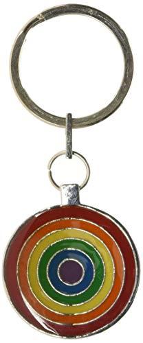Gs113a Gaysentials Pewter Key Chain - Circles, 1.6 Ounce ()