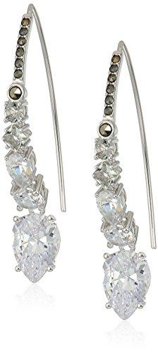 - Judith Jack Sterling Silver/Crystal Threader earrings