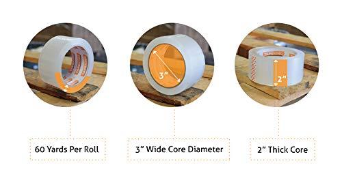 Heavy Duty adh/ésif industriel Depot rubans 36 Rolls//2.7 Mil Thick Ruban King clair adh/ésif demballage 54,9/m par rouleau Plus robustes et plus /épais 2.7/mil