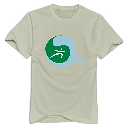 CUAUNED Surfer T-shirt For Men - XL Natural Cute Short-Sleeve Natural Shirt For Adult (Surfers Parade)