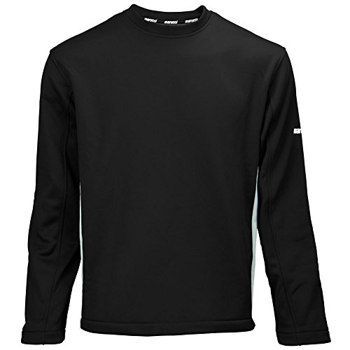 Marucci Mens Performance Fleece Pullover Black/Grey (Performance Brushed Twill Shirt)