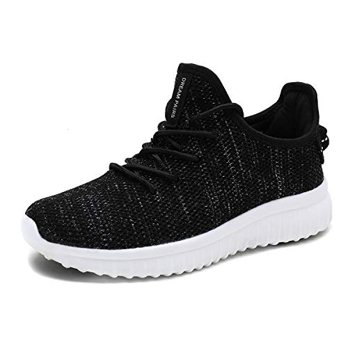 DREAM PAIRS Women's 170726_2_W Black White Fashion Sneakers Lightweight Breathable Mesh Walking Gym Running Sport Shoes 11 M US