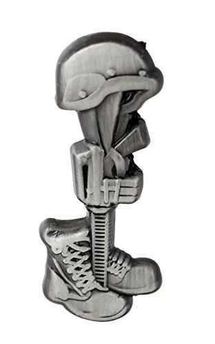 Final Tribute Battle Cross Fallen Soldier Silver Lapel Pin- 1 Piece