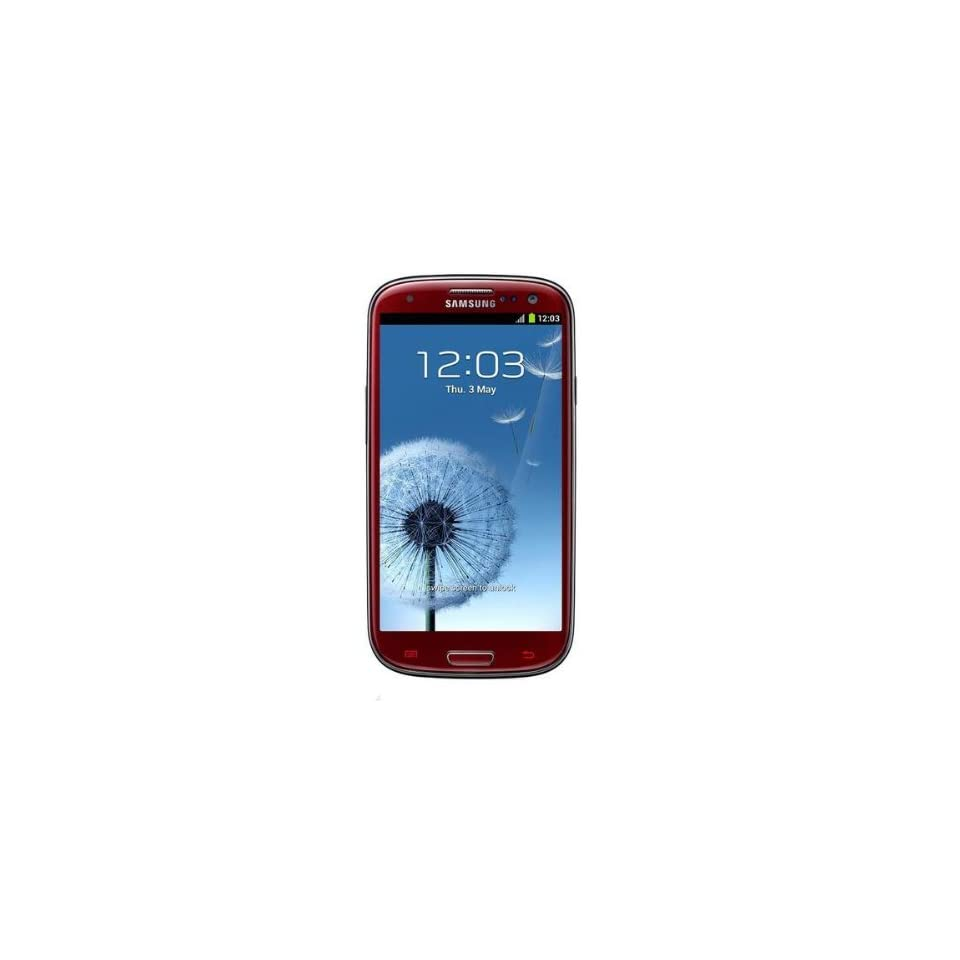 Samsung Galaxy S lll I9300 Unlocked GSM Phone with 4.8 HD Super AMOLED Screen, 8MP Camera, Android OS 4.0, International Version   Garnet Red