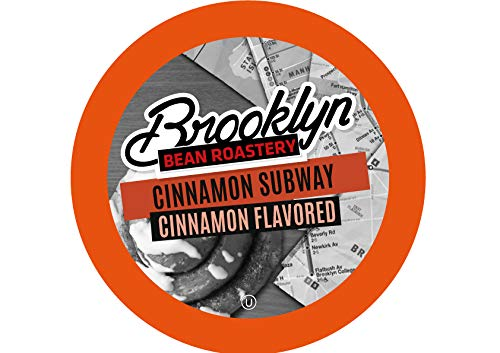 (Brooklyn Beans Cinnamon Subway Coffee Pods for Keurig K Cups Coffee Maker, 40 Count)