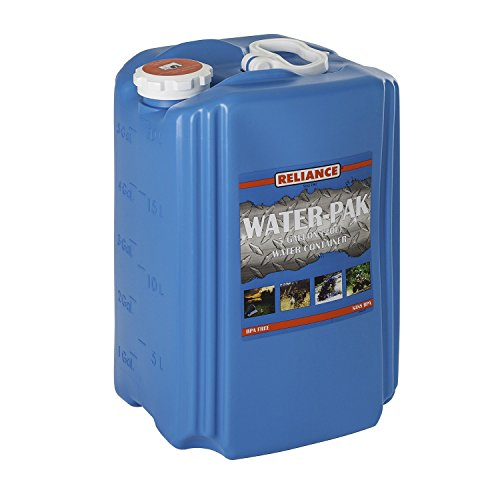 Reliance Products Water-Pak Water Container, 5-Gallon, Blue