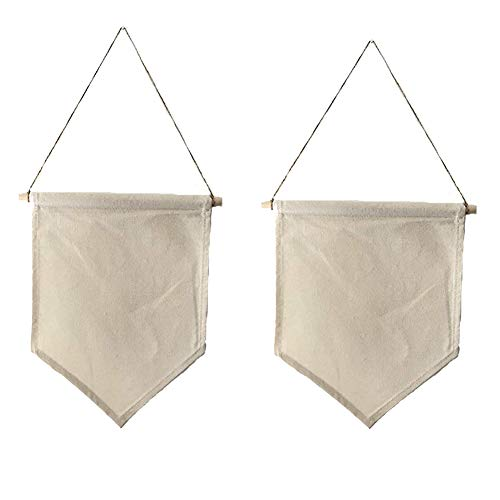 Zoopwon 2 Pieces Wall Display Banners Blank Canvas Banner Enamel Pin Banners and Lapel Collections (2 Pc Pin - Pin Pennant