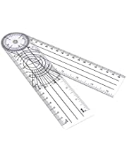 """8"""" Spinal Plastic Goniometer Angle Protractor Ruler For Physical Therapy"""