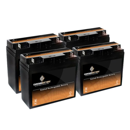 12V 20AH SLA Battery replaces 51814 6fm17 6-dzm-20 6-fm-18 lcx1220p - 4PK by Chrome Battery