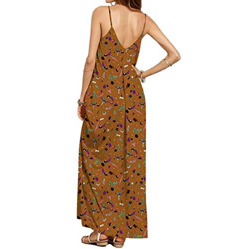 DINGANG - Vestido - sujetador bandeau - Sin mangas - para mujer Multicolor9
