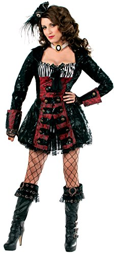 [Forum Novelties Women's Halloween Couture Pearl The Pirate Costume, Red/Black, Medium/Large] (Halloween Pirate Woman Costumes)