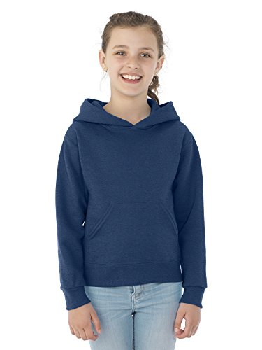 Jerzees 996Y Youth NuBlend Hooded Pullover Sweatshirt - Vintage Heather Navy44; Small